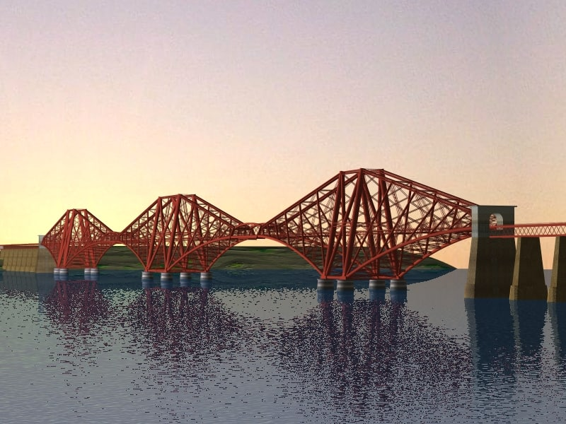 3ds firth forth railway bridge
