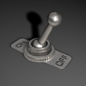 3d toggle switch model