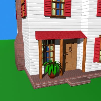 home windows door 3d model