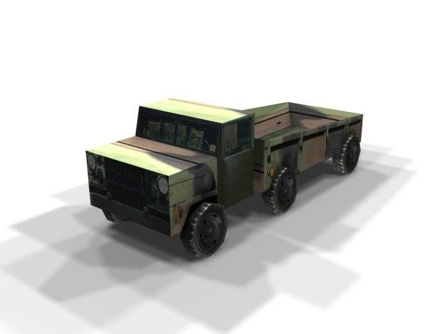 3d truck games model