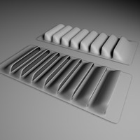 3d model louvers vents