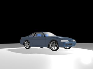 nissan 240sx 3d model