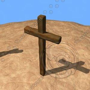 3d model crosses christianity