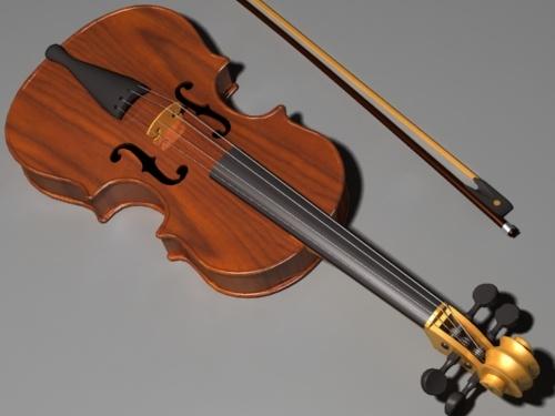 stradivary violin 3d model
