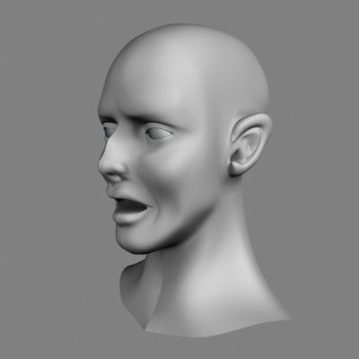 free headbase point modify 3d model