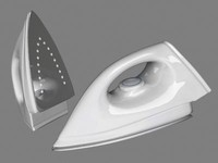 steam iron 3d model