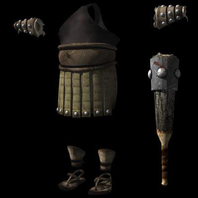 3d obj ogog armor