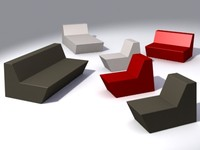 3d model rubber sofa