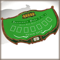 blackjack gambling table 3d model