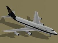 b 747-200 f ups 3d model