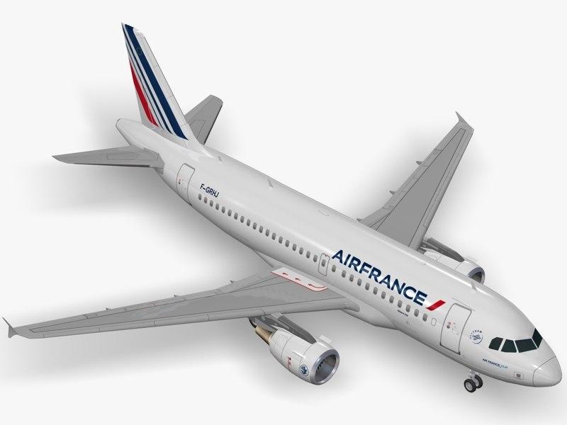 airbus a319 air france 3d max