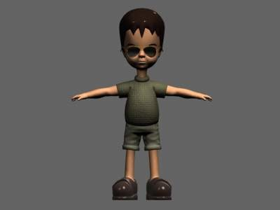 character child boy 3d model