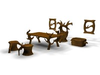 fantasy furniture chair 3d model