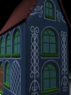 cartoon house c4d
