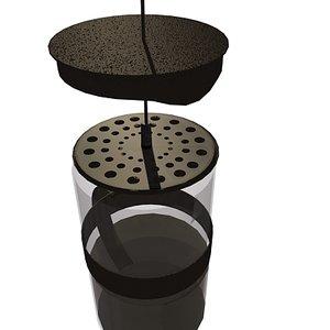 3d cafietere coffee model