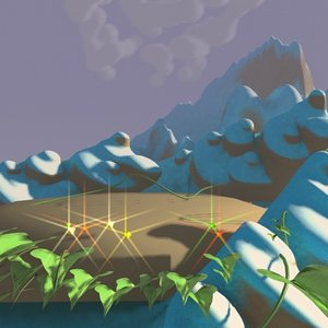 mountain jungle 3d max