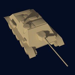 su-100 russian tank 3d model
