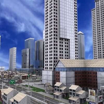 city metropolitan architecture 3d model