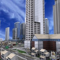 city architecture buildings 3d model
