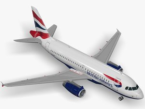 airbus a319 british airways 3d 3ds