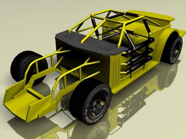 nascar race car roll cage 3d model