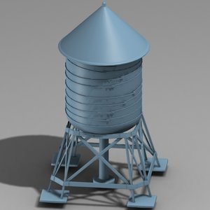 3ds max water tower