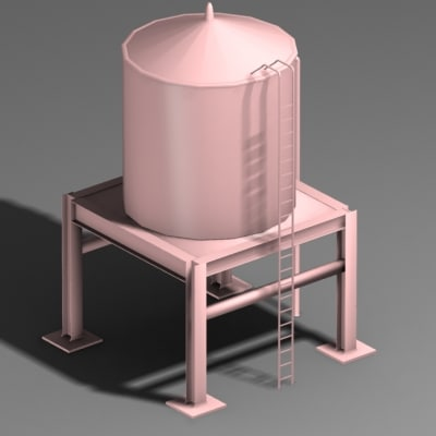 water tower 3d xsi