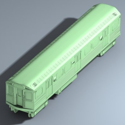traincar train car 3d model