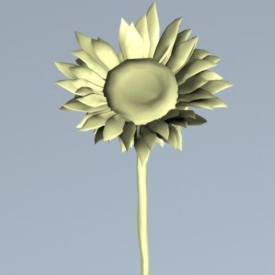 3ds sunflower flower sun