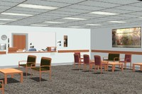 room waiting 3d model