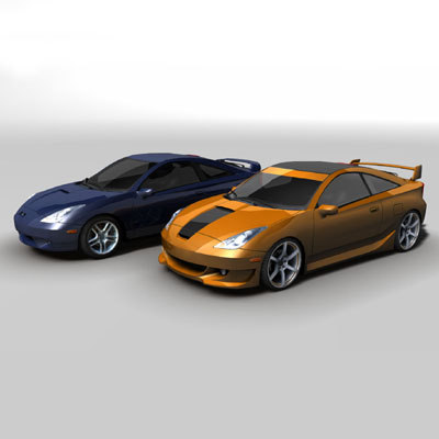 celica games 3d model