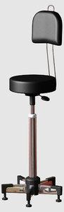 lightwave stool chrome leather