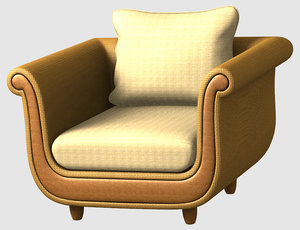 3d model of relax chair