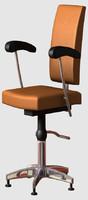 salon chair 3d model