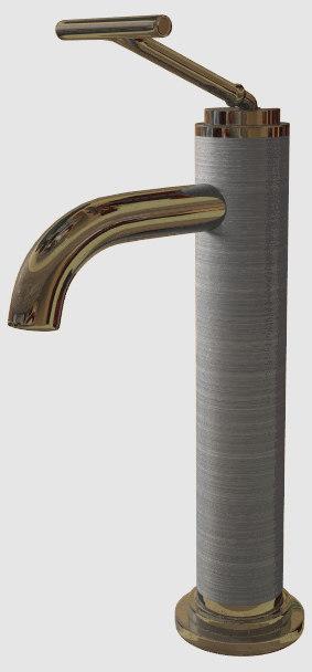 brushed steel modern tap lwo