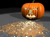 halloween puking pumpkin 3d model