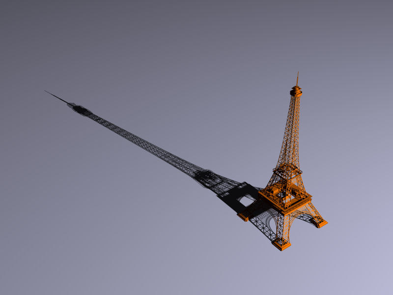 3d model eiffel tower tour