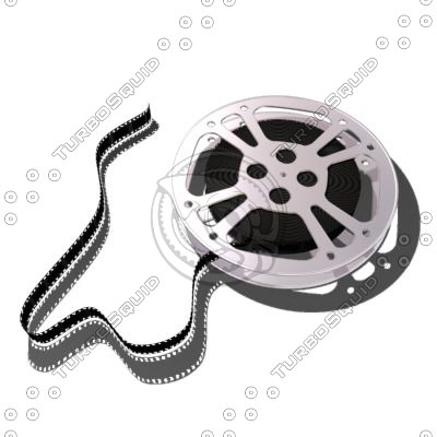 movie reel film filmstrip 3d model
