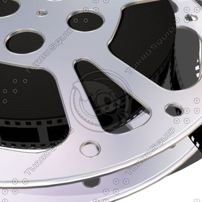 movie reel film 3d model