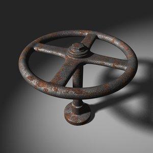 3d hand wheel valve