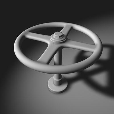 hand wheel valve 3d model