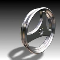 3ds max wheel hub alloy