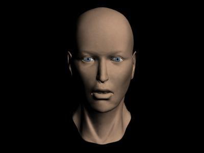 3d model woman head