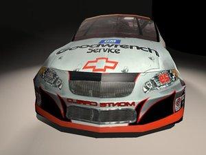 nascar car race 3d model