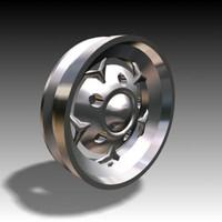 3d wheel hub alloy model