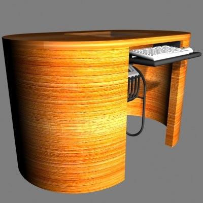 3d model desk window computer