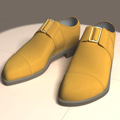 chamois shoes 3d model