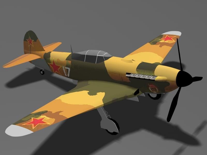 3d yakovlev fighter