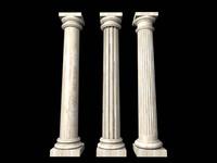 turned columns 3d max