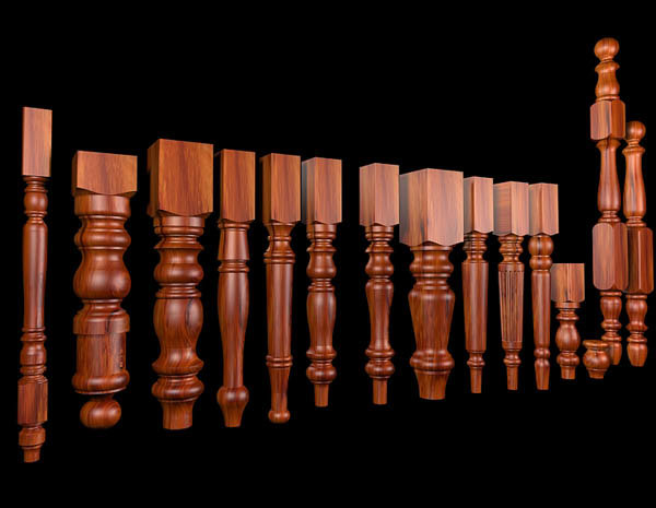 turnings tables 3d 3ds